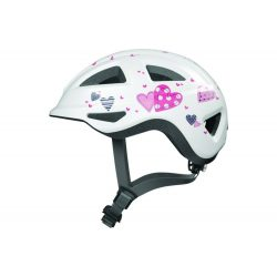 ABUS kerékpáros gyerek sisak Anuky 2.0 ACE, In-Mold, white heart, S (46-52 cm)