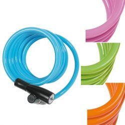 ABUS spirál lakat 1950/120 Kids, color (világos kék, világos zöld, narancs, pink vegyesen)