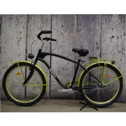 """Bicolor Cruiser 26"""" (Matt)Fekete-Neon Zöld Férfi Cruiser kerékpár"""