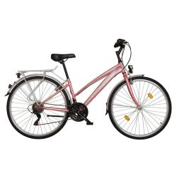 """Koliken 28"""" Gisu Női trekking kerékpár Rózsa"""