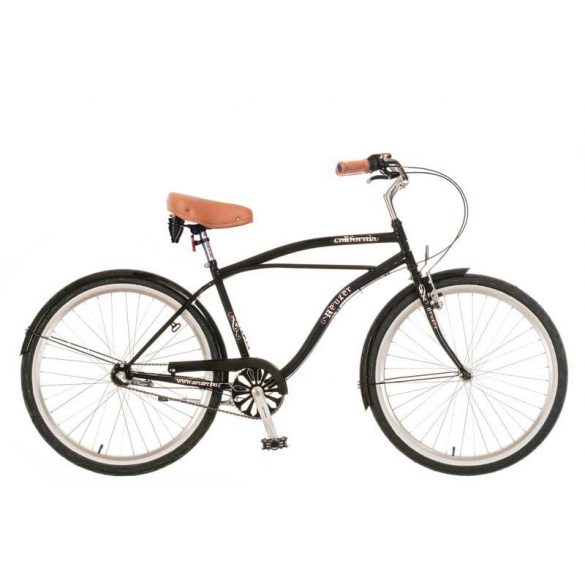 California férfi fekete Cruiser kerékpár
