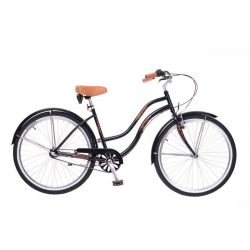 California női fekete Cruiser kerékpár