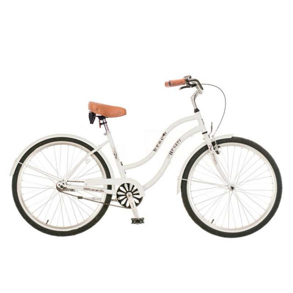 Beach női fehér Cruiser kerékpár