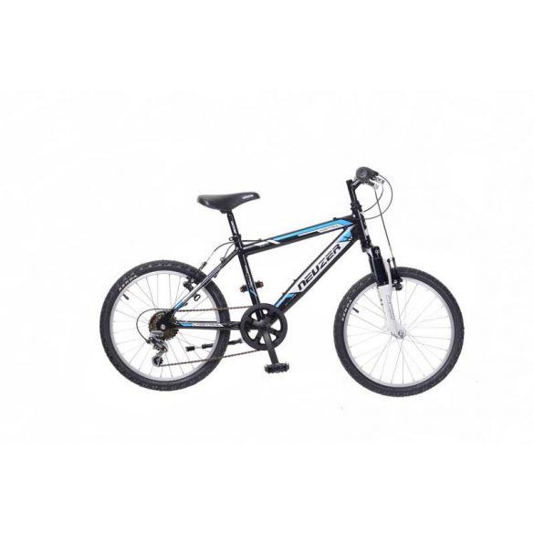 Neuzer Mistral 20 fiú fekete/fehér- Gyerek kerékpár