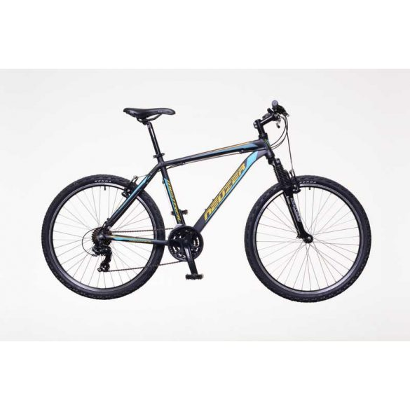 Neuzer Mistral 30 férfi fekete/narancs-türkiz 21  telescopic MTB Hobby kerékpár