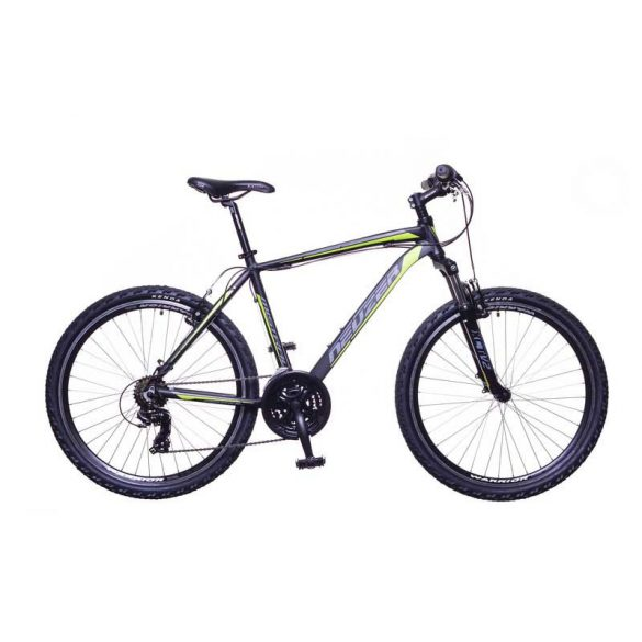 Mistral 30 férfi fekete/zöld-szürke 21 telescopic MTB Hobby kerékpár