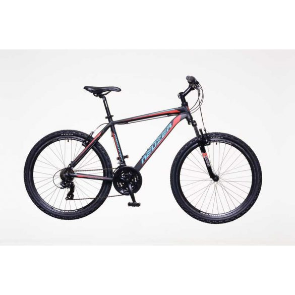 Neuzer Mistral 30 férfi fekete/piros-cián 17 telescopic MTB Hobby kerékpár