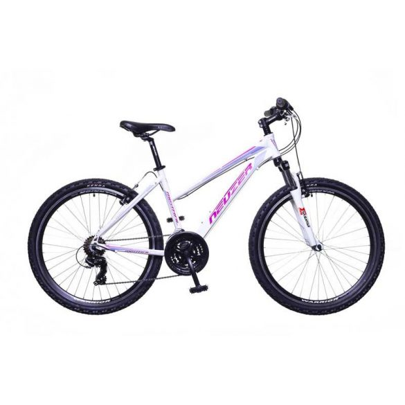 Neuzer Mistral 30 női fehér/pink-purple 15 telescopic MTB Hobby kerékpár