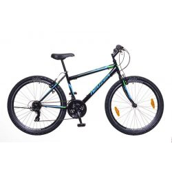 Nelson 30 férfi fekete/türkiz-neon zöld 17 MTB Hobby kerékpár