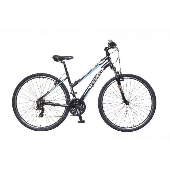 X100 női fekete/fehér-blue 19 Cross kerékpár