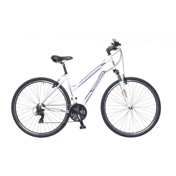 Neuzer X100 női fehér/purple-mallow 19 Cross kerékpár