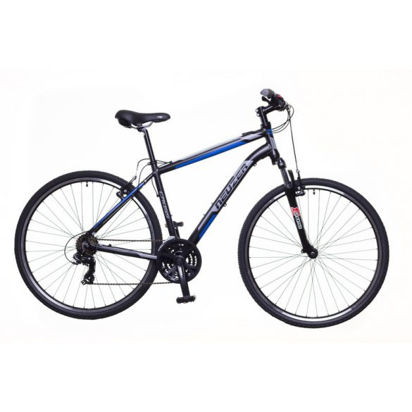 Neuzer X100 férfi fekete/kék-szürke 19 Cross kerékpár