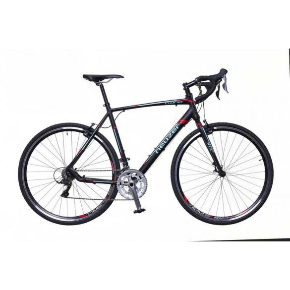 Neuzer Courier CX fekete/türkiz-piros matte 53 cm Gravel kerékpár