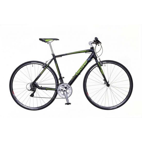 Neuzer Courier DT fekete/zöld-szürke 62 cm matte Fitness kerékpár