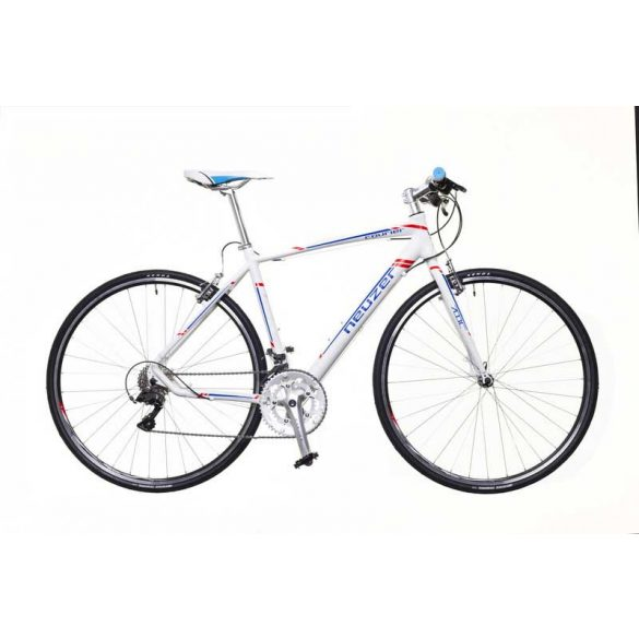 Neuzer Courier DT fehér/kék-piros 50 cm matte Fitness kerékpár