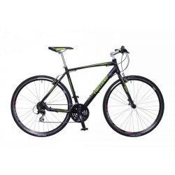 Neuzer Courier  fekete/zöld-szürke 46 cm matte Fitness kerékpár