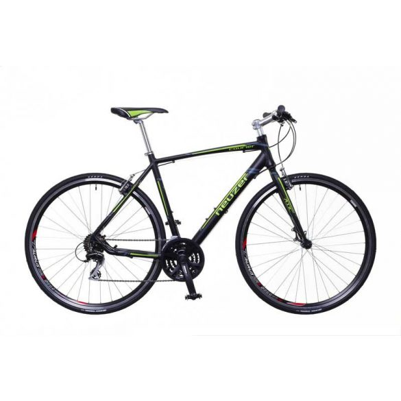Neuzer Courier  fekete/zöld-szürke 50 cm matte Fitness kerékpár