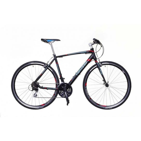 Neuzer Courier  fekete/türkiz-piros 62 cm matte Fitness kerékpár
