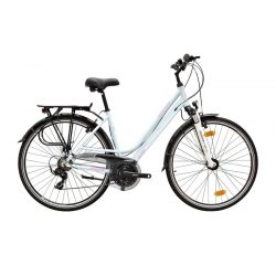 Ravenna 100 női babyblue/light pink-szürke matte 17 Trekking kerékpár