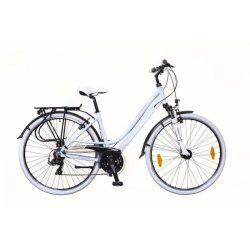 Ravenna 100 női babyblue/light pink-szürke matte 19 Trekking kerékpár
