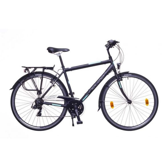 Neuzer Ravenna 50 férfi fekete/türkiz-szürke matte 21 Trekking kerékpár