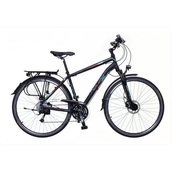 Neuzer Firenze 400 férfi fekete/ türkiz-piros matte 21 Trekking kerékpár