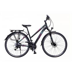 Firenze 400 női fekete/ türkiz-piros matte 19 Trekking kerékpár