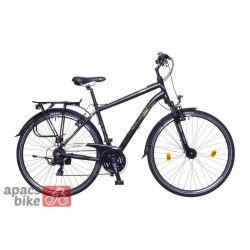 Firenze 100 férfi fekete/ zöld-szürke matte 21 Trekking kerékpár
