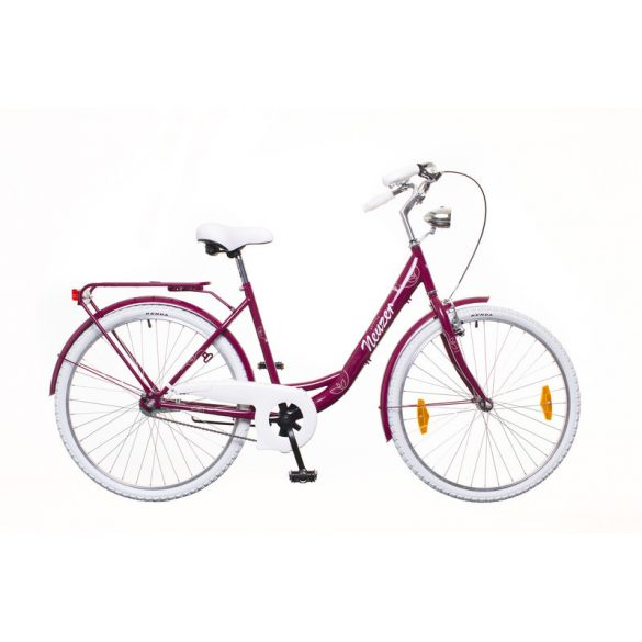"""Neuzer Balaton Premium 26"""" 1S női sötétlila/fehér-barna City - Városi kerékpár"""