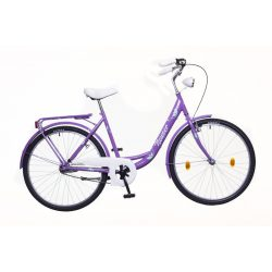"""Neuzer Balaton 26"""" Plus női lila/zöld- City - Városi kerékpár"""