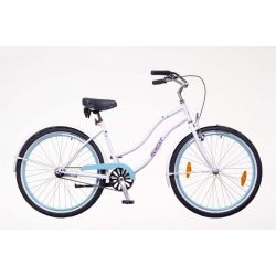 Neuzer Sunset női fehér/pöttyös Cruiser kerékpár