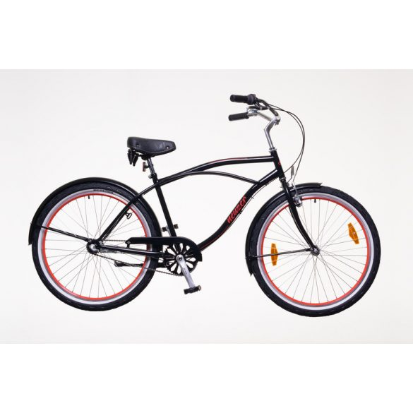 Neuzer Miami férfi fekete/piros Cruiser kerékpár