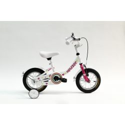 BMX 12 lány fehér/pink